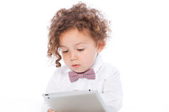 Young Kid Using Tablet Royalty Free Stock Photography
