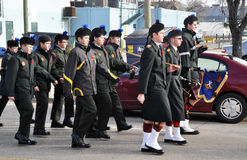 Young Kiltie. Photo was taken during Canadian Remembrance Day ceremonies in Winnipeg City, Manitoba province, Canada. on November 11, 2013. Location St. Phillips stock photos