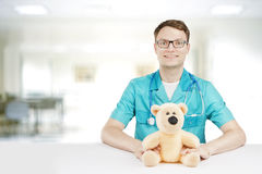 Young kind doctor with glasses Stock Photography