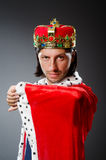 The young king businessman in royal concept Royalty Free Stock Photo