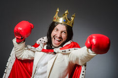 The young king businessman in royal concept Royalty Free Stock Photos