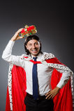 The young king businessman in royal concept Stock Photo