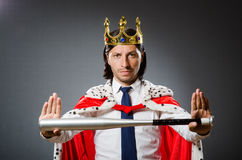 The young king businessman in royal concept Royalty Free Stock Images