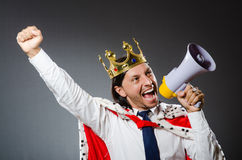 The young king businessman in royal concept Stock Photography