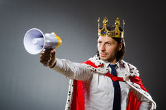 The young king businessman in royal concept Royalty Free Stock Photography