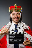 The young king businessman in royal concept Stock Images
