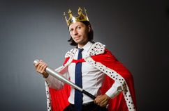 Young king businessman in royal concept Royalty Free Stock Images