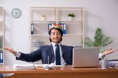 The young king businessman working in the office. Young king businessman working in the office stock images