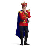 The young king out of the fairytale is thinking Royalty Free Stock Photography