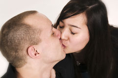 Young kissing Stock Image