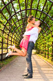 Young Kissing Couple Stock Photography