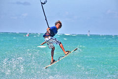 A young kiter during the championship Royalty Free Stock Photos