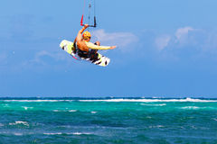 Free Young Kitesurfer On Sea Background Extreme Sport Kitesurfing Royalty Free Stock Photography - 39366847