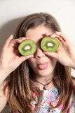 Young kiwis with two eyes Royalty Free Stock Photography