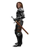 Young Knight at Rest. Young knight in armour with sword at rest, 3d digitally rendered illustration Royalty Free Stock Image