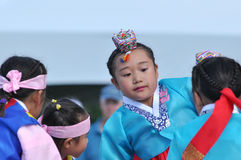 Young Korean Dancers Royalty Free Stock Image
