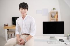 Young Korean manager Stock Photo