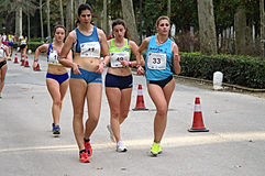 Young ladies at a race 67 Royalty Free Stock Photography