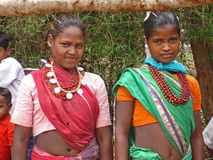 Young ladies in rural India Royalty Free Stock Photos