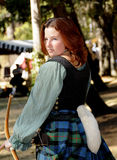 Young Lady Archer 2 Royalty Free Stock Images