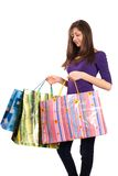 Young lady with bags Royalty Free Stock Photos