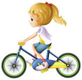 A young lady biking Royalty Free Stock Photos