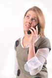 Young lady on cellphone Royalty Free Stock Images