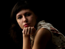 Young lady classic portrait Royalty Free Stock Photography