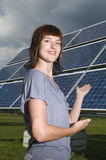 Young lady and clean energy Stock Photos