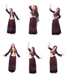 The young lady dancing traditional azeri dance Stock Image