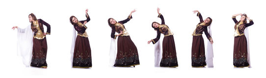 The young lady dancing traditional azeri dance Royalty Free Stock Photography