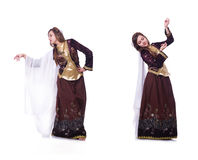The young lady dancing traditional azeri dance Stock Photography