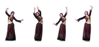 The young lady dancing traditional azeri dance Royalty Free Stock Photo
