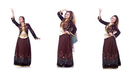 The young lady dancing traditional azeri dance. Young lady dancing traditional azeri dance Stock Photo