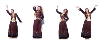 The young lady dancing traditional azeri dance Stock Photo