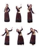 The young lady dancing traditional azeri dance Royalty Free Stock Image