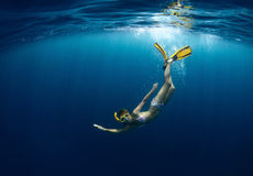 Young lady diving Stock Photography