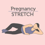 Young Lady doing her Daily Pregnancy Stretches and Workouts Stock Image