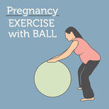 Young Lady doing her Daily Pregnancy Workout Stock Image