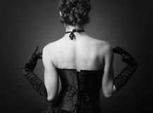 Young lady in elegant evening dress Stock Photography
