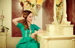 Young lady enjoy beauty Royalty Free Stock Images