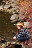 Young lady enjoying nature Stock Photos