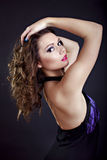 Young lady in evening gown Stock Photography