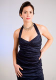Young Lady in an Evening Gown. A beautiful young lady of asian descent wearing an evening gown Stock Photos
