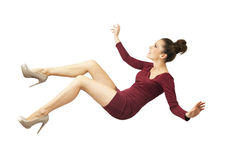 Young lady falling down Stock Image