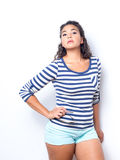 Young Lady In Fun Summer Outfit Royalty Free Stock Photos