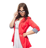Young lady in glasses Stock Photos