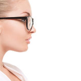 Young lady in glasses Royalty Free Stock Images