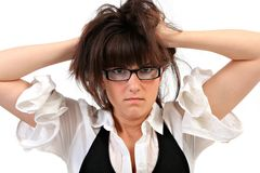 Young Lady Gone Crazy Royalty Free Stock Photo