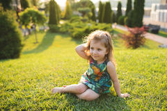 Young Lady on Grass Stock Photography